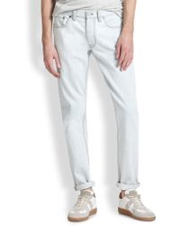Marc By Marc Jacobs Bleached Straight-Leg Jeans - Lyst