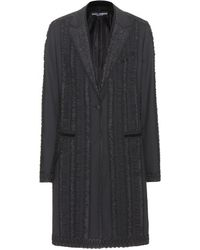 Dolce & Gabbana Embroidered Tailored Coat - Lyst