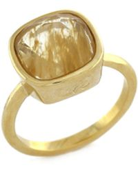 Cole Haan - Golden Lights Glass Cocktail Ring - Lyst