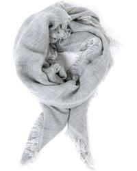 7 For All Mankind - Wool Scarf Grey - Lyst