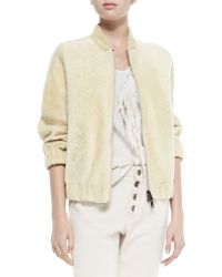 Brunello Cucinelli Reversible Zip-Front Shearling Jacket - Lyst