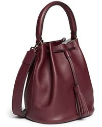 Anya Hindmarch Vaughan Leather Bucket Crossbody Bag - Lyst