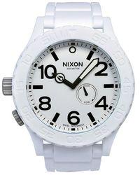 Nixon Mens 51-30 Series White Dial White Polyurethane - Lyst