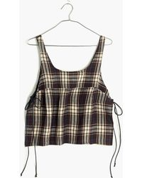 Madewell Loup Charmant&Trade; Como Cropped Shirt - Lyst