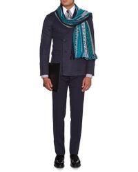 Burberry Prorsum - Jacquard Wool And Cotton-Blend Scarf - Lyst