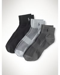 Ralph Lauren Quarter-Length Sock 3-Pack - Lyst