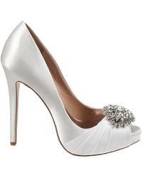 Badgley Mischka Pettal Satin Pumps - Lyst