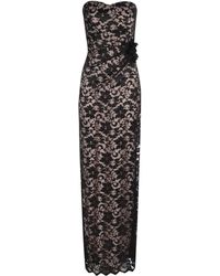 Jane Norman Bandeau Contrast Lace Maxi Dress - Lyst
