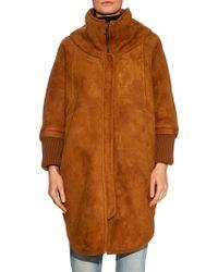 OSMAN | Sarita Shearling Coat | Lyst