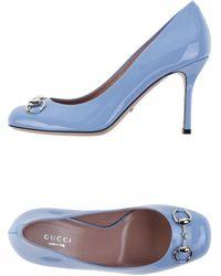Gucci Pump blue - Lyst
