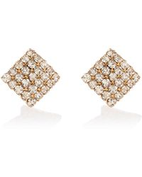 River Island | Gold Tone Embellished Square Stud Earrings | Lyst