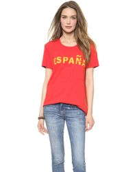 Textile Elizabeth And James Espana Bowery Tee Redyellow - Lyst