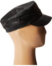 Hat Attack Leather Cap - Lyst