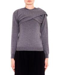 J.W. Anderson Draped Merino-Wool Sweater - Lyst