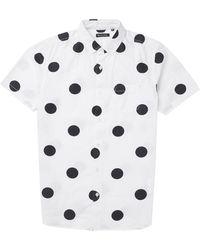 Brave Soul All Over Dot Short Sleeve Shirt - Lyst
