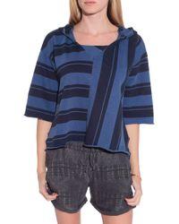 NSF Clothing Robyn Poncho blue - Lyst