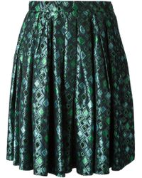 Yves Saint Laurent Vintage Brocard Skirt - Lyst