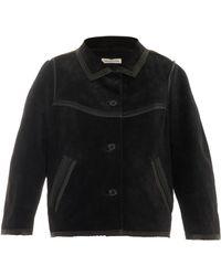 Etoile Isabel Marant Bolton Contrast-Trim Suede Jacket - Lyst