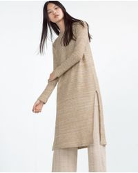 Zara | Rustic Top With Slits | Lyst