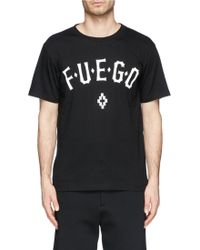 Marcelo Burlon Fuego' Text Print T-Shirt - Lyst