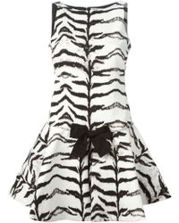 Giambattista Valli Bow Detail Skater Dress - Lyst