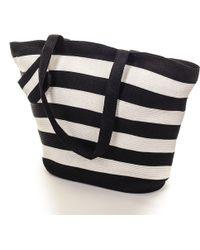 Black.co.uk Black And White Striped Beach Bag - Lyst