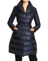Ermanno Scervino Coat Matt Down Jacket with Shawl Collar and Belt - Lyst