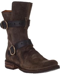 Fiorentini + Baker Eternity 713 Mid-Shaft Boot Olive Suede - Lyst