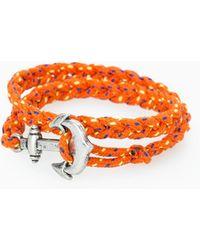 Mango - Metal Anchor Braided Bracelet - Lyst