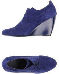 Balenciaga Blue Laceup Shoes - Lyst