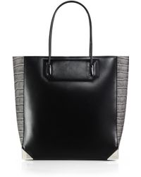 Alexander Wang Prisma Contrast Embossed Leather Tote - Lyst