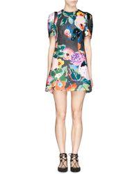 Chictopia - Floral Print Scuba Jersey Flare Dress - Lyst