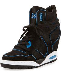 Ash Best Contrast Pipetrimmed Wedge Sneaker - Lyst