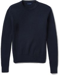Lanvin Ribbed-knit Cotton Sweater - Lyst