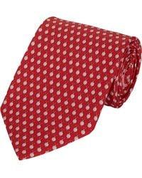 Ferragamo Snail-print Neck Tie - Lyst