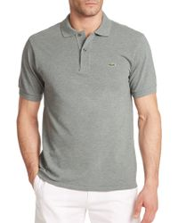 Lacoste Cotton Polo Shirt green - Lyst