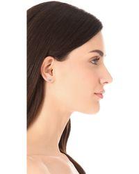 Sarah Chloe - Petite Jolie Diamond Stud Earrings - Clear - Lyst