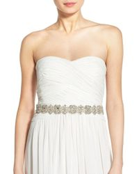 Nestina Accessories - 'innessa' Crystal Bridal Sash - Lyst