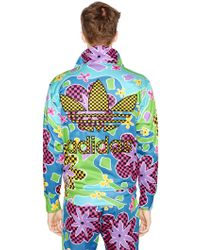 ff1856c651ab Jeremy Scott for adidas - Floral Printed Nylon Sweatshirt - Lyst