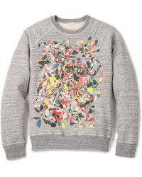 Marc Jacobs Gray Swirly Sweatshirt - Lyst