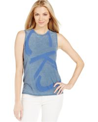 Calvin Klein Jeans Sleeveless Tank Top blue - Lyst