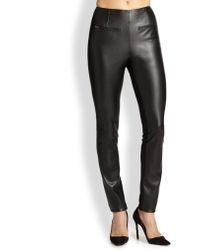 Sachin & Babi Robbie Faux Leather Front Ponte Skinny Pants - Lyst