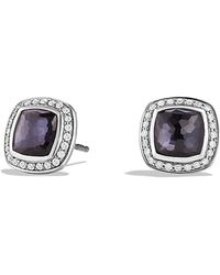 David Yurman Albion Earrings With Diamonds - Lyst