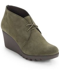 Donald J Pliner Maka Suede Wedge Chukka Boots - Lyst