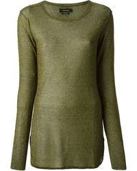 Isabel Marant Green Sheer Top - Lyst