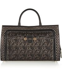 Jason Wu Daphne Lasercut Leather Tote - Lyst