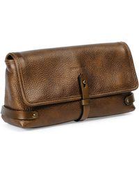 Tomas Maier - Granada Metallic Leather Clutch Bag - Lyst