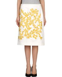 Thakoon Knee Length Skirt - Lyst