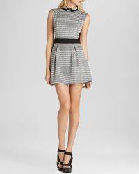 BCBGeneration Mini Dress - Collared Stripe - Lyst