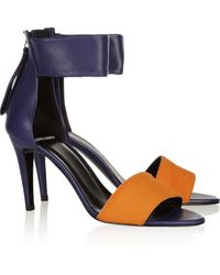 Pierre Hardy Leather and Calf Hair Sandals - Lyst